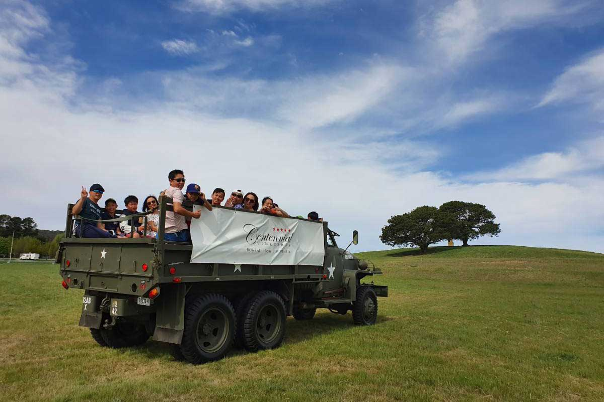 Military Vehicle wine tours