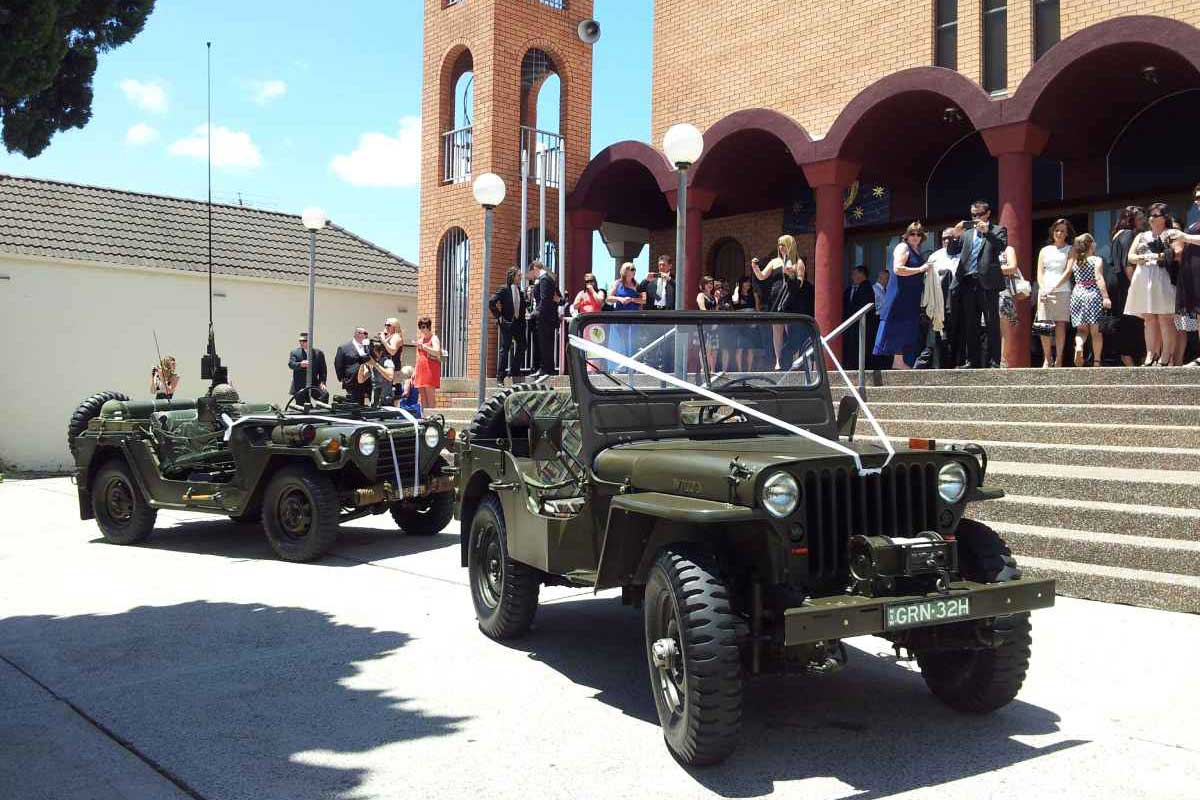 Military Vehicle hire for weddings